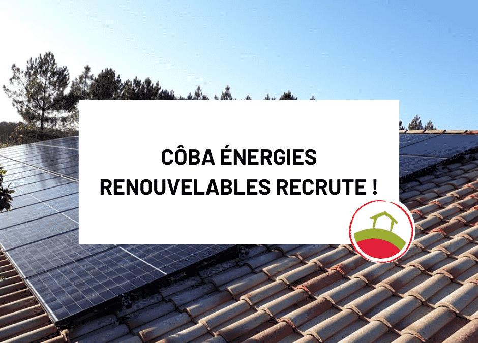 Côba Énergies Renouvelables recrute!